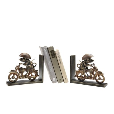 SPI Home Motorcycling Mouse Bookends