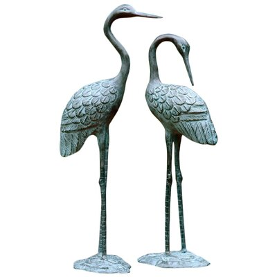 SPI Home Love Cranes Pair Statue