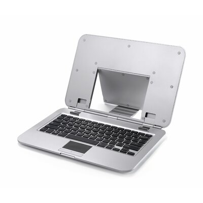2COOL Sleek Stand with Keyboard for Laptops and Notebooks in Silver