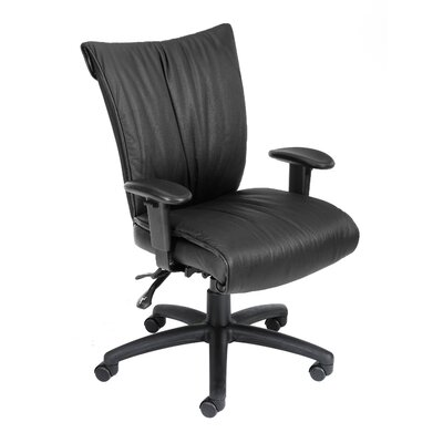 Boss Office Products Mid-Back LeatherPlus Office Chair