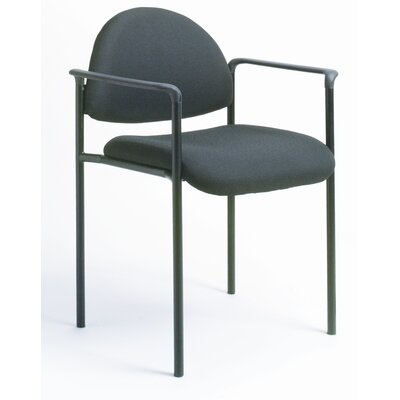Contemporary Style Stackable Chair with Arms