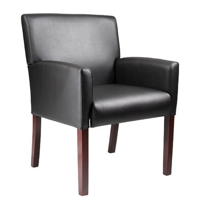 Boss Office Products Reception Box Arm Chair with Mid-back