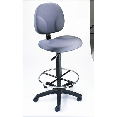 Boss Office Products Height Adjustable Drafting Stool with Footring