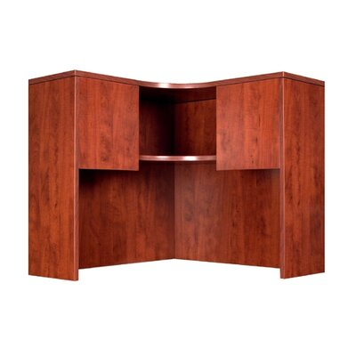 Boss Office Products Corner Table with Hutch