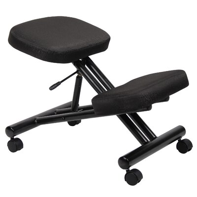 Boss Office Products Low-Back Height Adjustable Kneeling Drafting Chair with Casters