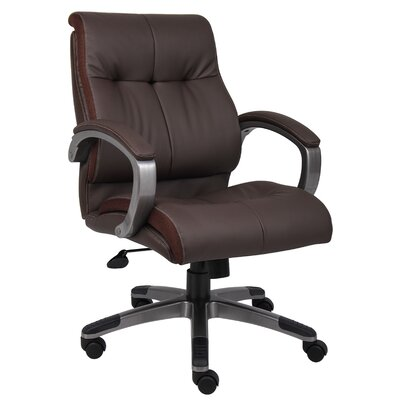 Boss Office Products Mid-Back Double Plush Executive Chair