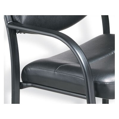 Boss Office Products Leather Guest Chair with Scratch Resistant Finish