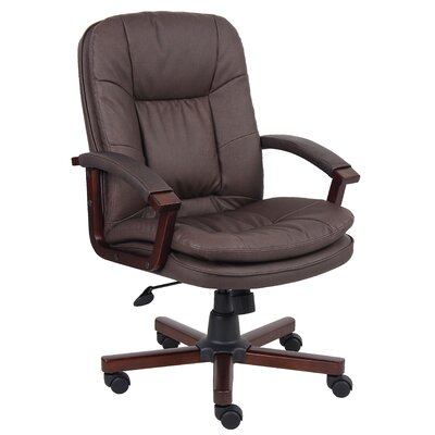 Boss Office Products High-Back Versailles Wood Executive Chair