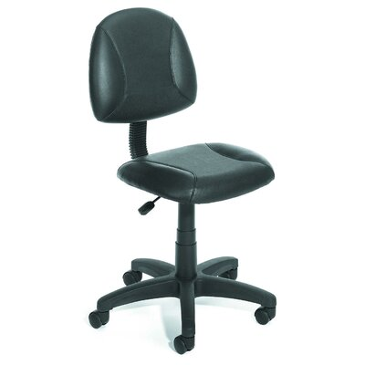Boss Office Products Adjustable Low-Back Leather Office Chair
