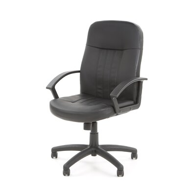 Boss Office Products Contemporary Mid-Back Leather Executive Chair