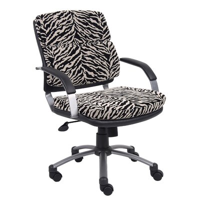 Boss Office Products Mid-Back Microfiber Office Chair with Padded Arm Rests