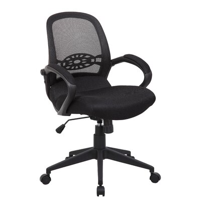 Boss Office Products Mid-Back Spider Mesh Chair with Arms