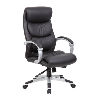 Boss Office Products High-Back Executive Office Chair with Hinged Arms