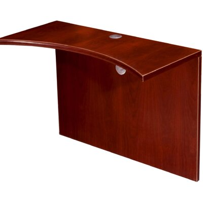 Boss Office Products Curved Bridge Desk