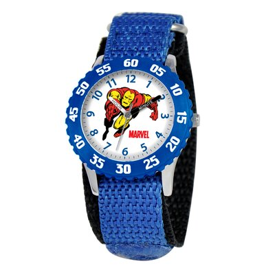Marvel Kid's Iron Man Time Time Teacher Watch in Blue with Blue Bezel