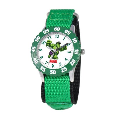 Kid's Hulk Time Teacher Watch in Green