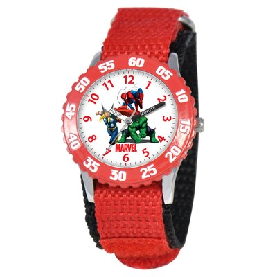 Kid's Heroes Time Teacher Watch in Red
