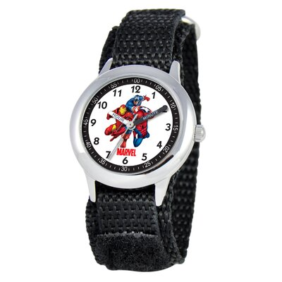 Kid's Heroes Time Teacher Velcro Watch in Black