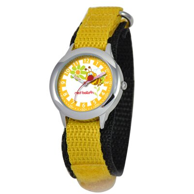 Red Balloon Kid's Buzzing Bees Time Teacher Watch in Yellow