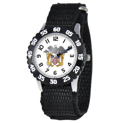 Kid's Military Navy Time Teacher Watch in Black