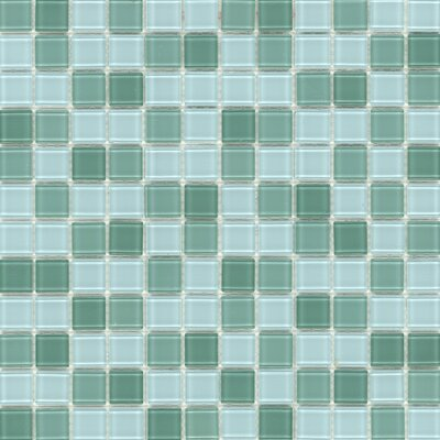 Surfaces Elida Glass Mosaic in Jade Multicolor