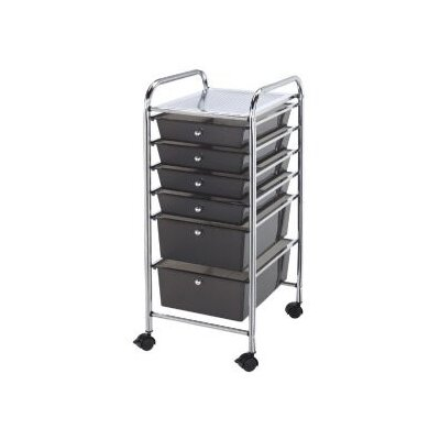Alvin and Co. Blue Hills Studio Storage Cart with Six Drawers