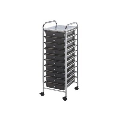 Alvin and Co. Blue Hills Studio Storage Cart with Ten Drawers