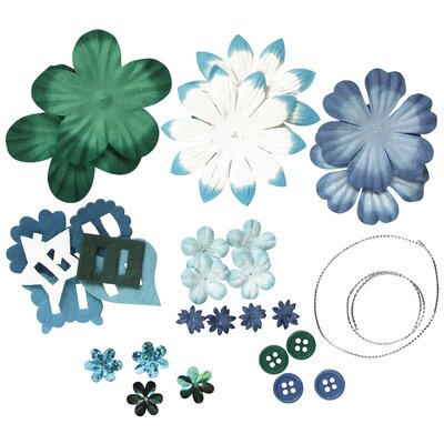 Alvin and Co. Irene's Garden Potpourri Paper Flower and Embellishment Pack (Set of 30)