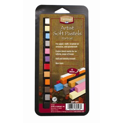 Alvin and Co. Portrait Soft Pastels Set (Set of 12)
