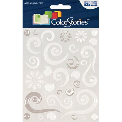 Alvin and Co. Colorstories Epoxy Swirl Stickers (Set of 63)