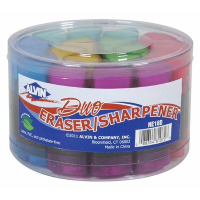 Alvin and Co. Twin Eraser/Sharpener Assortment Display