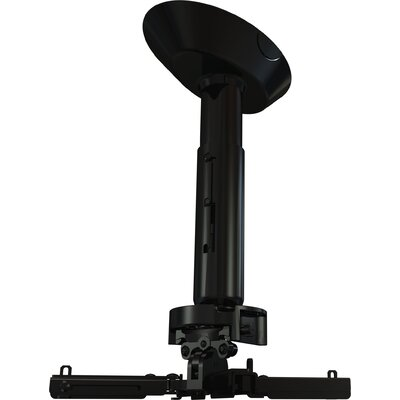 "Crimson AV Universal Ceiling Mounted Projector Kit with 6"" to 11"" Adjustable Drop Length"