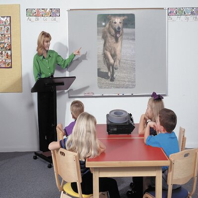 Best-Rite® Projection Plus Multimedia Boards - Aluminum Trim 4' x 6'