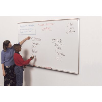 "Best-Rite® Porcelain Steel Marker Boards - Aluminum Trim 33.75"" x 48"""