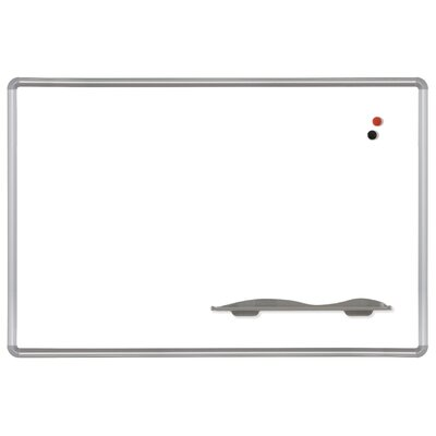 Best-Rite® 4' x 4' Porcelain Steel Markerboard with Presidential Trim