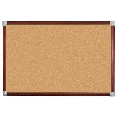 Best-Rite® Elan Trim Natural Cork Tackboard 3' x 4'
