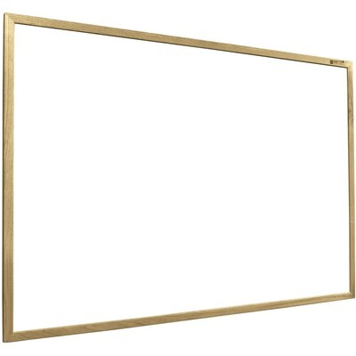 "Best-Rite® 33.75"" x 4' Porcelain Steel Markerboard with Solid Wood Trim"