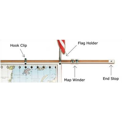 "Best-Rite® 1"" Accessories for Map Rail"