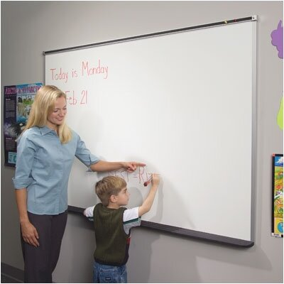 Best-Rite® Dura-Safe Trim Markerboards with Black Trim 4' x 6'