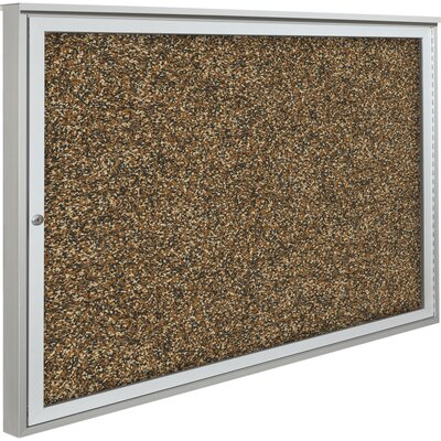 Best-Rite® Weather Sentinel Single Door Outdoor Enclosed Bulletin Board Cabinet