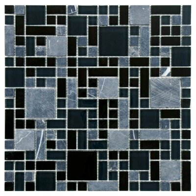 Sierra Random Sized Polished Glass and Stone Mosaic in Versailles Bizancio