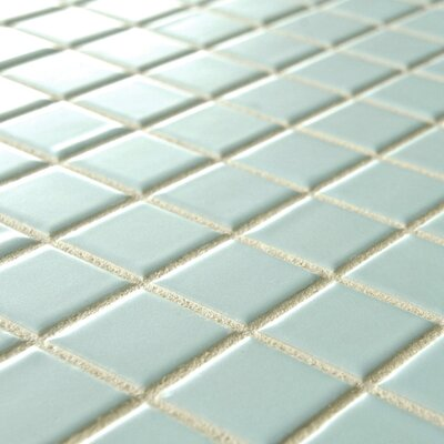 "Retro 1"" x 1"" Porcelain Glazed Mosaic in Matte Light Blue ..."