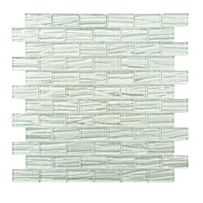 Timber Glass Glass Mosaic Tile in White
