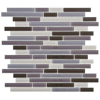 EliteTile Ambit Random Sized Glass Mosaic Tile in Reglia