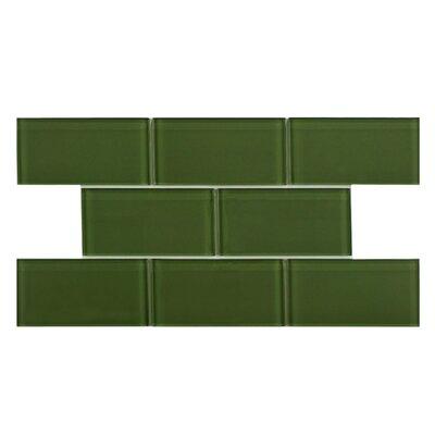 EliteTile Sierra Glass Mosaic Tile in Sage