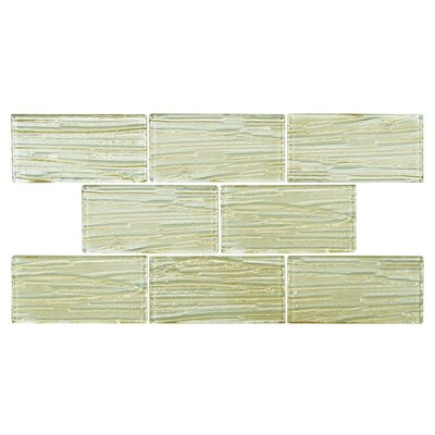 Timber Glass Glass Mosaic Tile in Cream