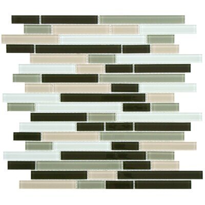 EliteTile Ambit Random Sized Glass Mosaic Tile in Chapparal