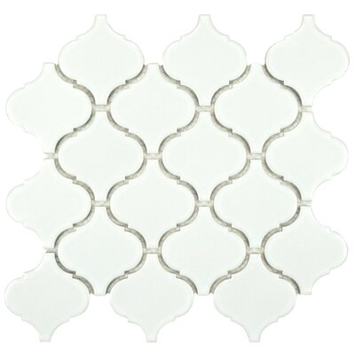 Retro Beacon Porcelain Glazed Mosaic Tile in White