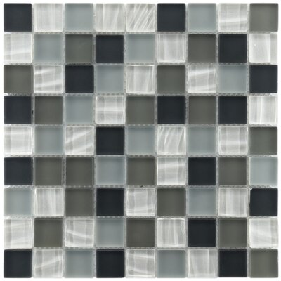 "EliteTile Neptunian 11-3/4"" x 11-3/4"" Polished Glass Mosaic in Troctus"