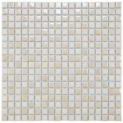 "EliteTile Posh 5/8"" x 5/8"" Pixie Porcelain Mosaic Wall Tile in Almond"